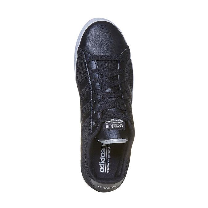 Ladies' black sneakers with lace adidas, black , 509-6195 - 19