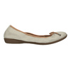 Leather ballet pumps with flexible topline bata, beige , 526-8617 - 15