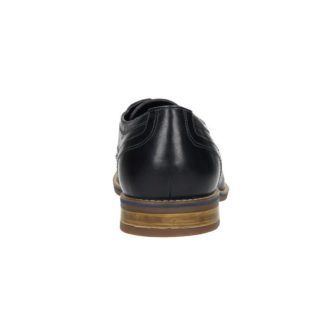 Men's casual leather shoes bata, blue , 826-9817 - 17