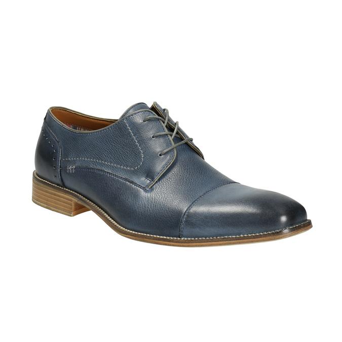 Blue leather shoes bata, blue , 826-9801 - 13