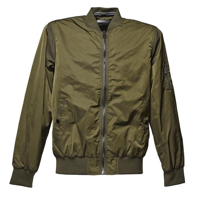 Men's Bomber style jacket bata, khaki, 979-7261 - 13