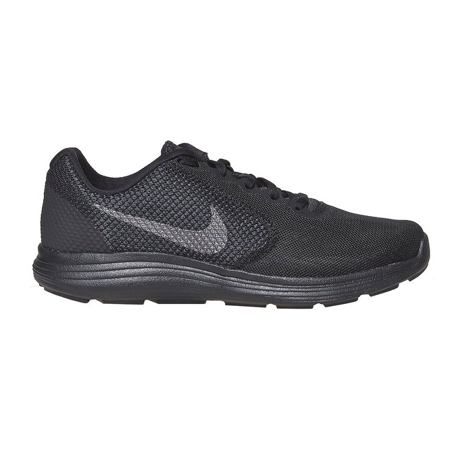 Men's sporty black sneakers nike, black , 809-6149 - 15
