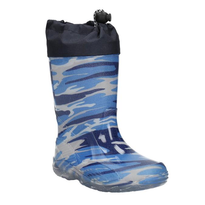 Children's patterned wellington boots mini-b, blue , 192-9110 - 13