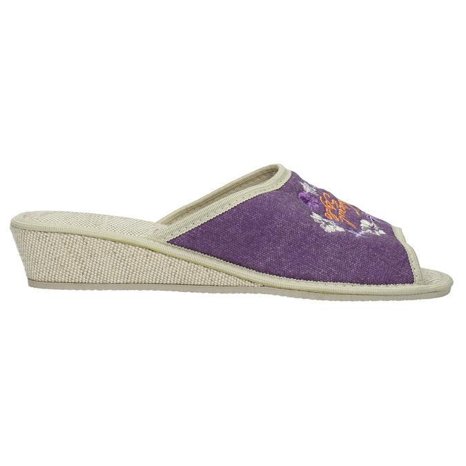 Ladies' wedge-heel slippers bata, violet , 679-5620 - 15