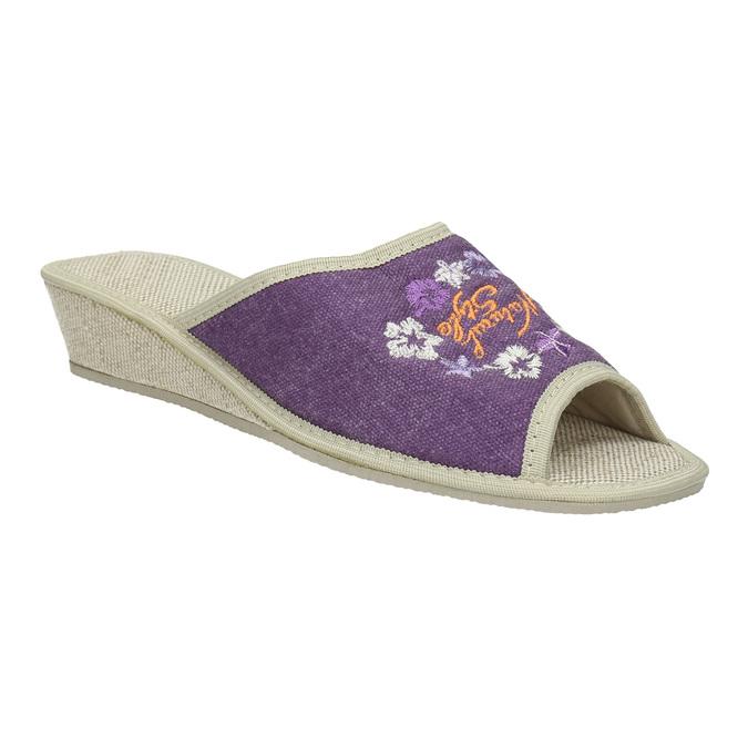 Ladies' wedge-heel slippers bata, violet , 679-5620 - 13