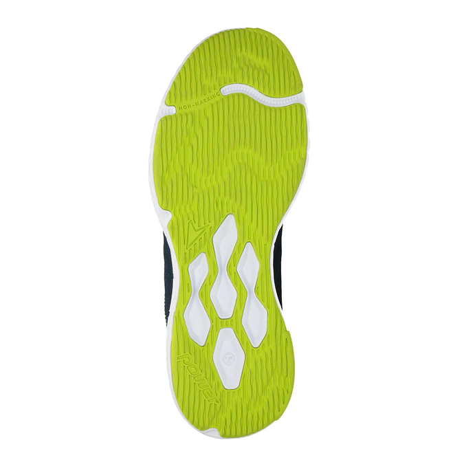 Sport sneakers with a pattern power, blue , 809-9155 - 26