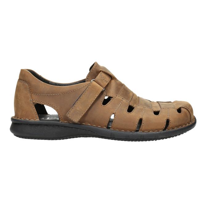 Men's brown leather sandals bata, brown , 864-4600 - 15