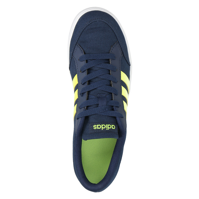 Boys' blue sneakers adidas, blue , 489-8119 - 19