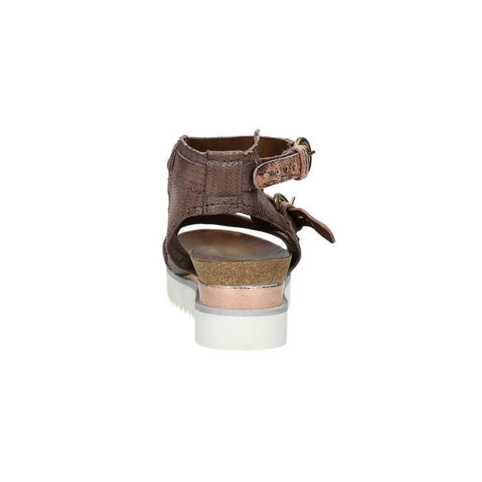Ladies' sandals with a distinctive sole bata, brown , 666-4604 - 17