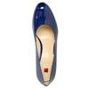 Patent leather pumps hogl, blue , 728-9400 - 19