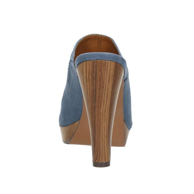 Mule slip-ons bata, blue , 769-9615 - 17