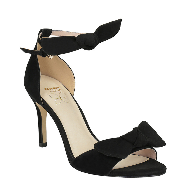 Ladies' black heeled sandals insolia, black , 769-6614 - 13