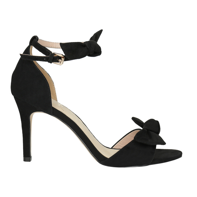 Ladies' black heeled sandals insolia, black , 769-6614 - 15