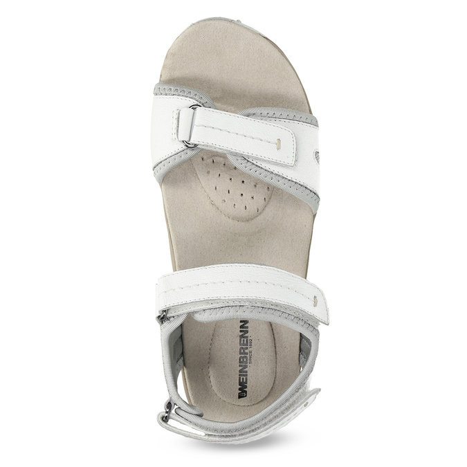 Ladies' leather sandals weinbrenner, white , 566-1608 - 17