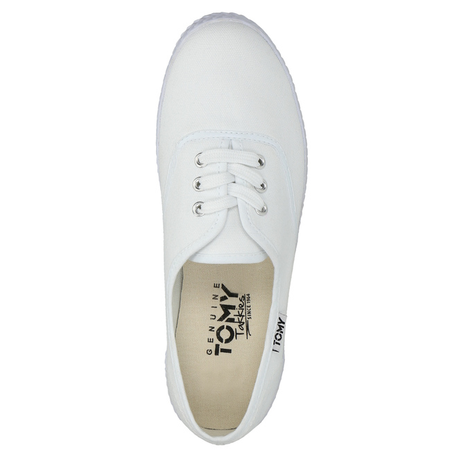Ladies' white sneakers tomy-takkies, white , 589-1180 - 19