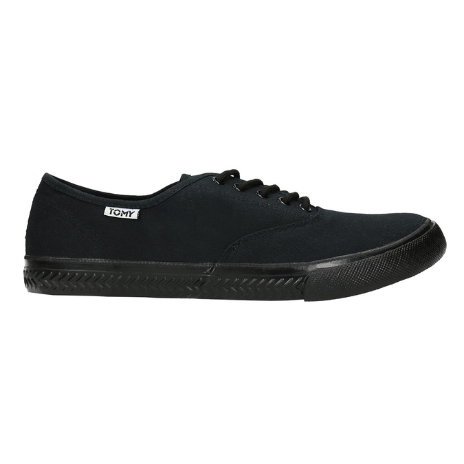 Men's black sneakers tomy-takkies, black , 889-6227 - 15