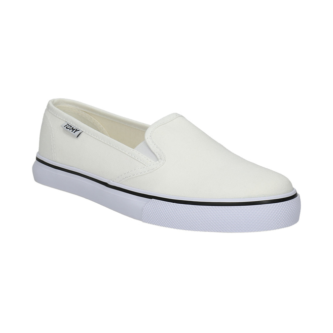 Ladies' slip-ons tomy-takkies, white , 589-1171 - 13