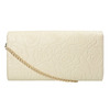 Clutch with floral pattern bata, beige , 961-1723 - 19