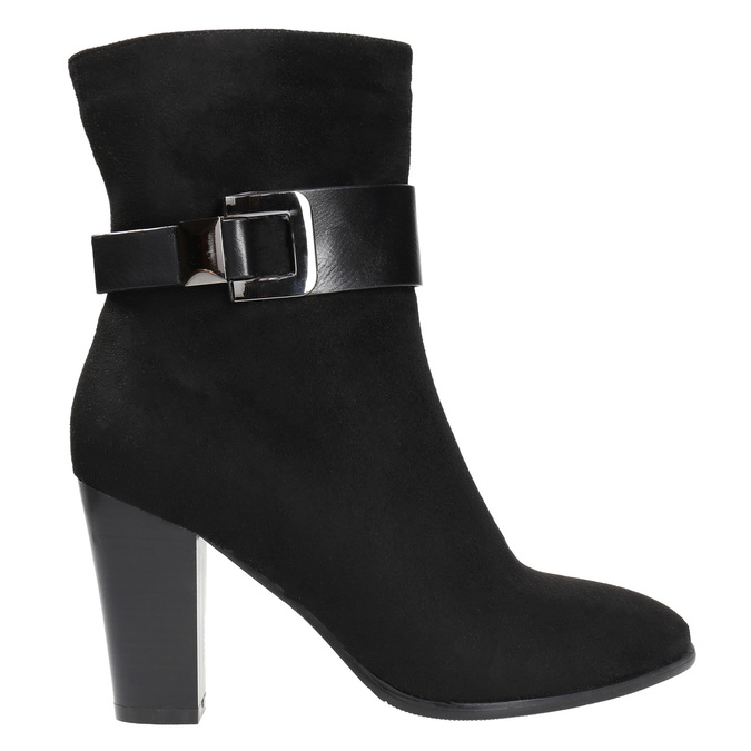 Ladies' ankle boots with a buckle bata, black , 699-6630 - 15