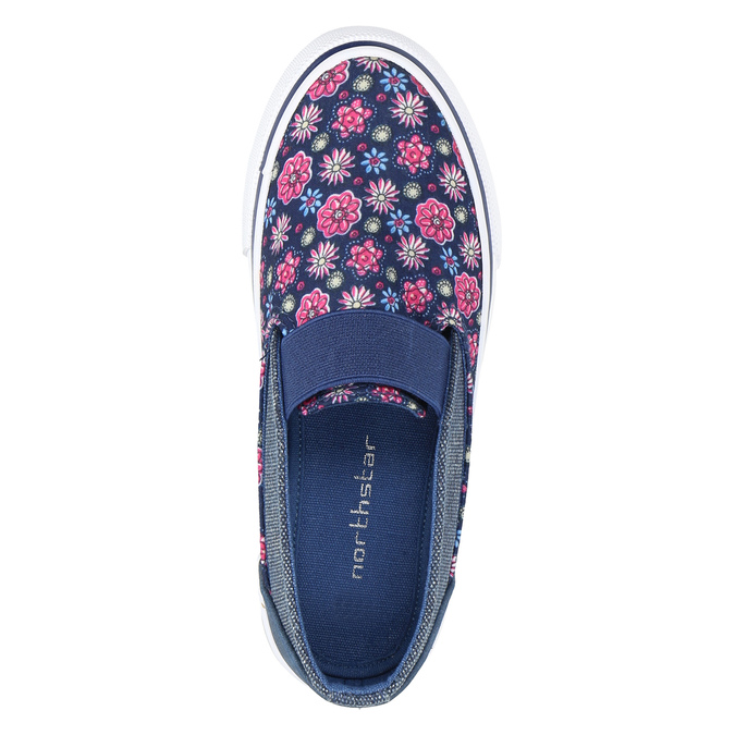 Girls' slip-on-style shoes mini-b, blue , 329-9611 - 19