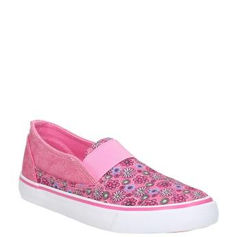 Girls' patterned slip-ons mini-b, pink , 329-5611 - 13