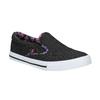 Ladies' slip-ons with coloured trim north-star, black , 589-6440 - 13