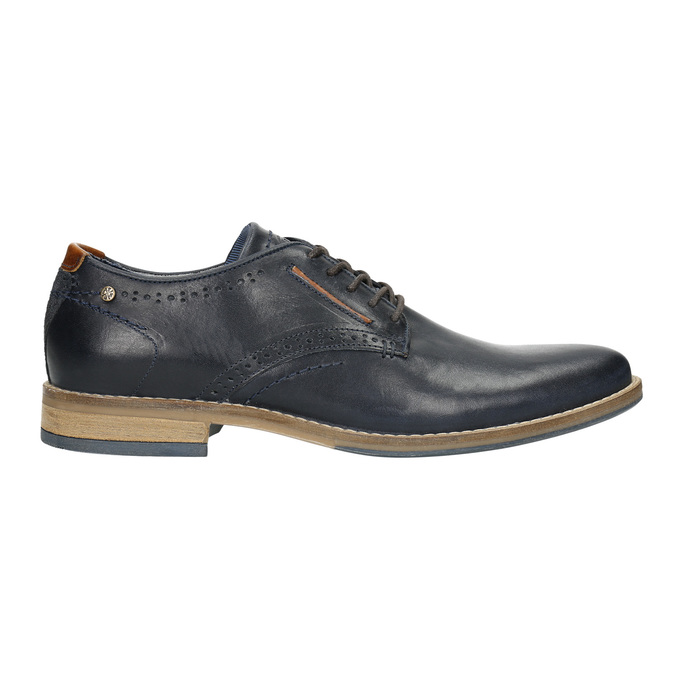 Informal leather shoes bata, blue , 826-9910 - 15