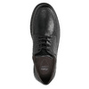Casual leather shoes with stitching, black , 824-6987 - 26