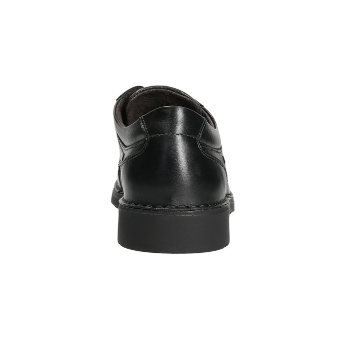 Casual leather shoes with stitching, black , 824-6987 - 17