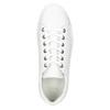 White leather sneakers bata, white , 526-1641 - 26