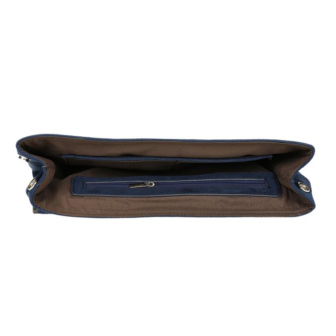 Ladies' blue clutch with wrist strap bata, blue , 969-9664 - 15