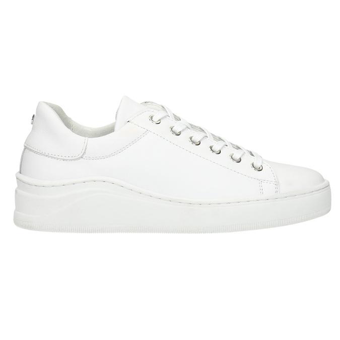 White leather sneakers bata, white , 526-1641 - 15