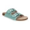 Blue leather sandals de-fonseca, green, 573-7621 - 13