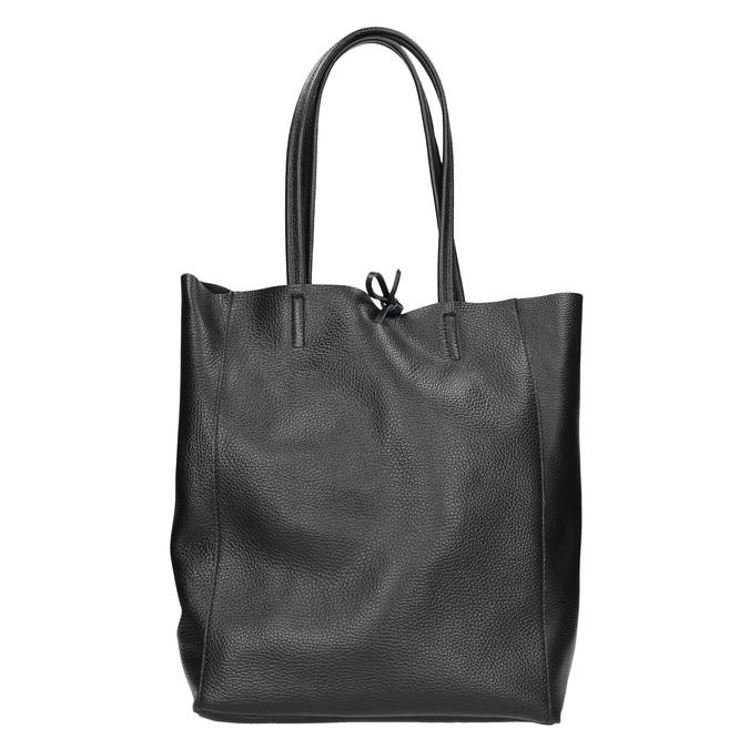 Leather handbag v Shopper style, black , 964-6122 - 16