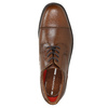 Brown leather shoes with stitching rockport, brown , 826-4020 - 26