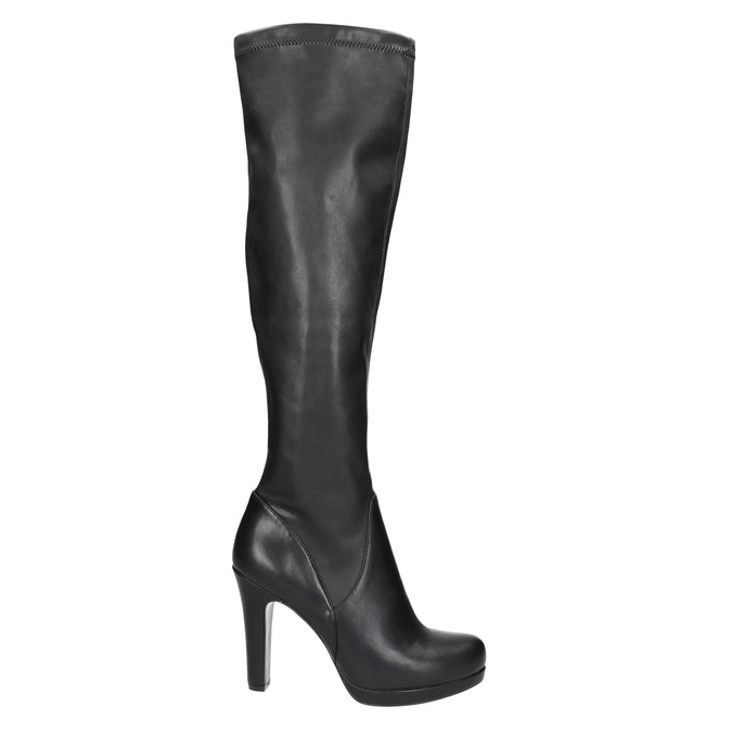 Ladies' high boots with heels bata, black , 791-6613 - 15