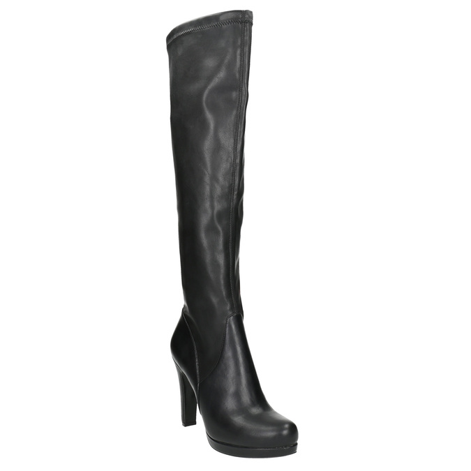 Ladies' high boots with heels bata, black , 791-6613 - 13
