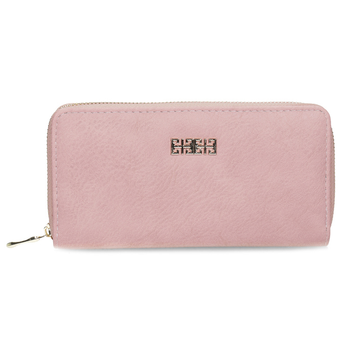 Pink ladies' wallet bata, pink , 941-0180 - 26