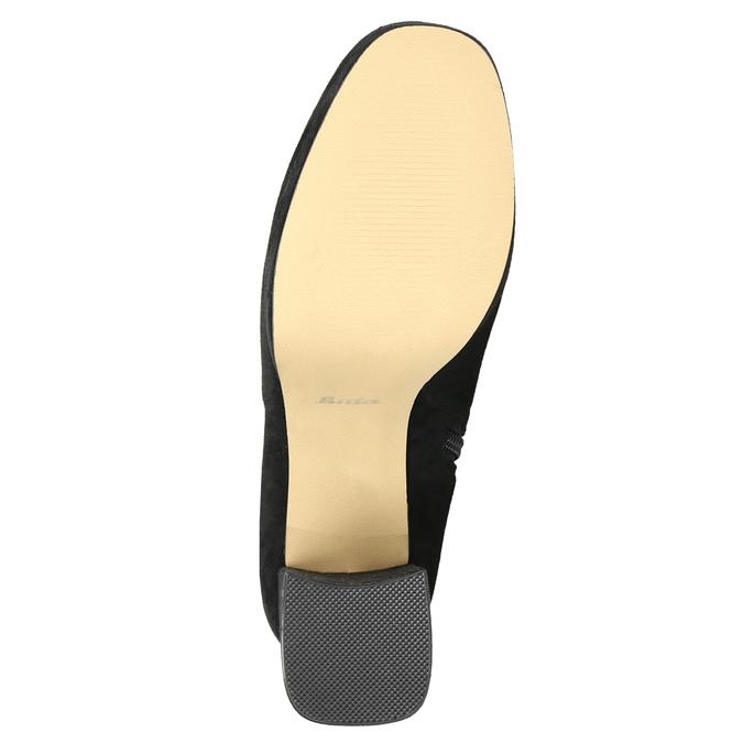Ladies' black over-knee high boots bata, black , 799-6663 - 19