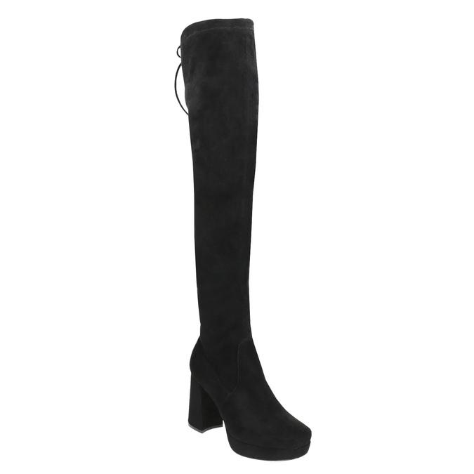 Ladies' black over-knee high boots bata, black , 799-6663 - 13