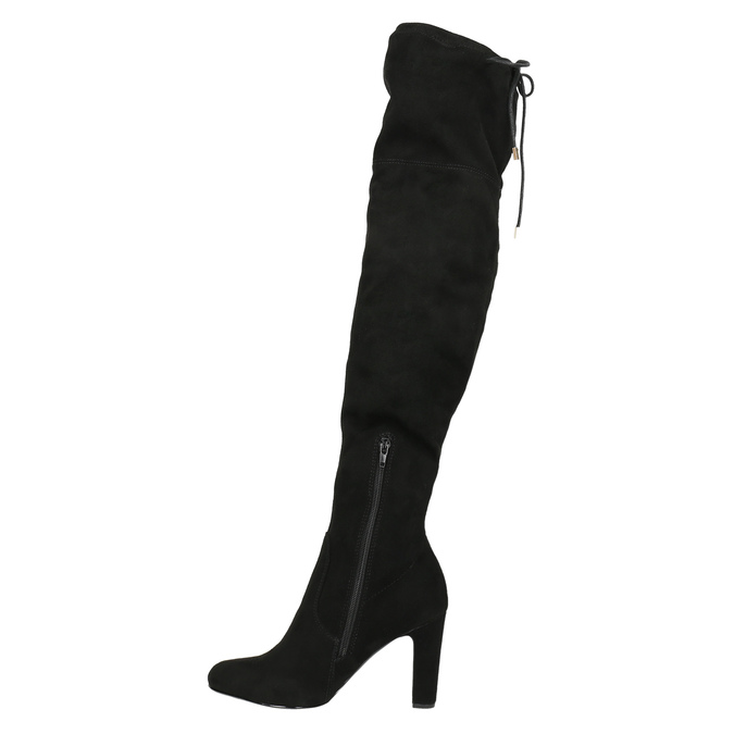 Over-knee high boots with heels insolia, black , 799-6618 - 26