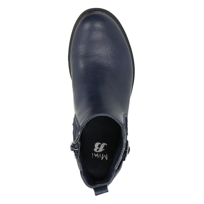 Children's blue Chelsea boots mini-b, blue , 321-9613 - 19