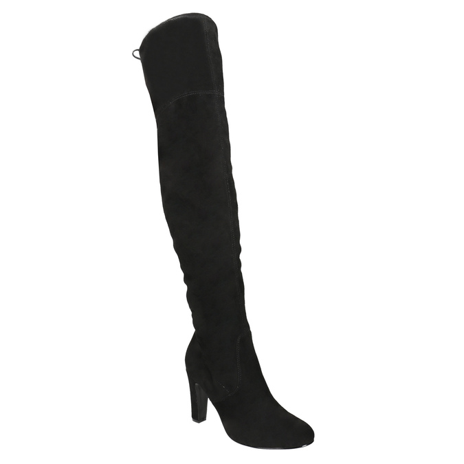 Over-knee high boots with heels insolia, black , 799-6618 - 13