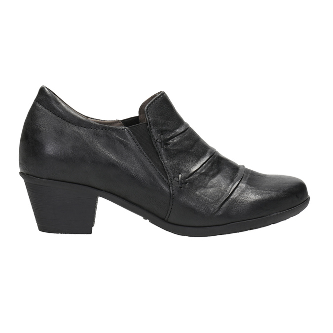 Leather Ankle Boots with Heel gabor, black , 614-6124 - 26