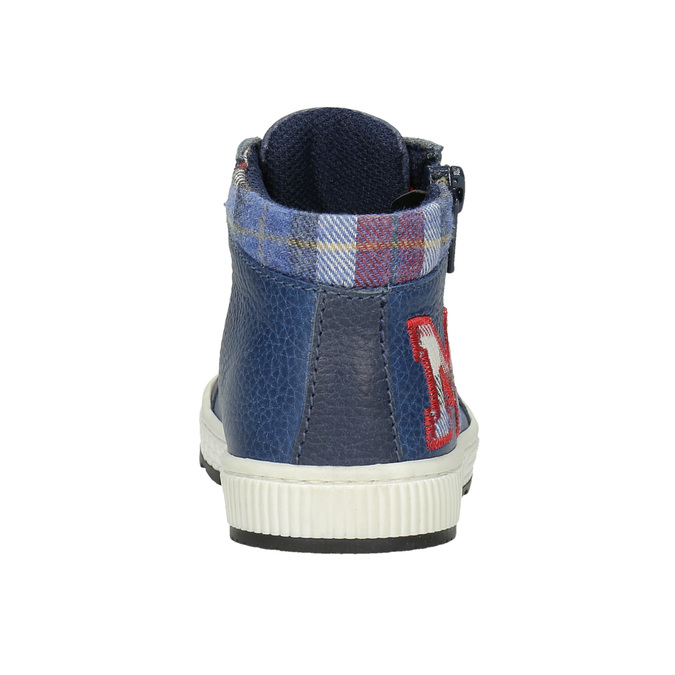 Kids' leather ankle boots bubblegummer, blue , 114-9603 - 16