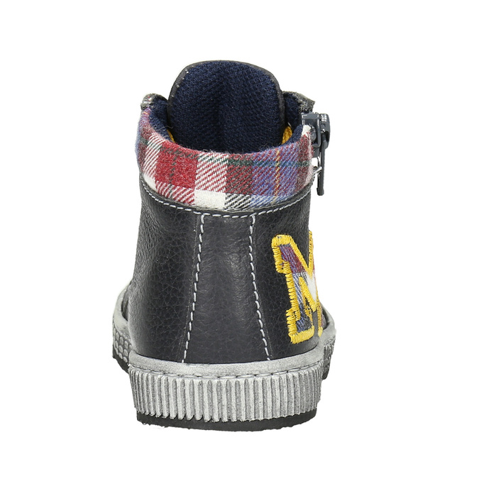 Kids' leather ankle boots bubblegummer, gray , 114-2603 - 16