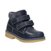 Children's leather ankle boots weinbrenner-junior, blue , 216-9200 - 13