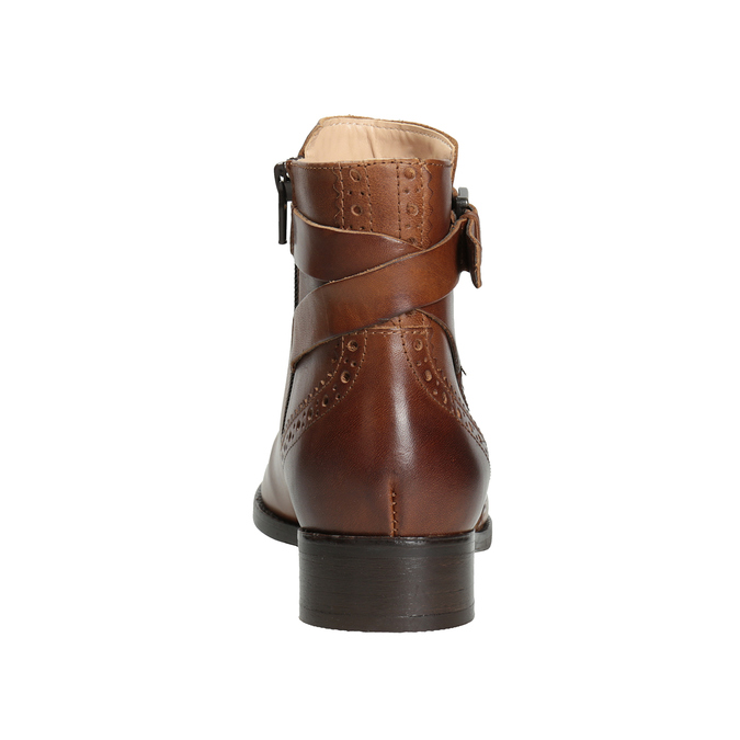 Embellished Leather Ankle Boots clarks, brown , 616-3026 - 16