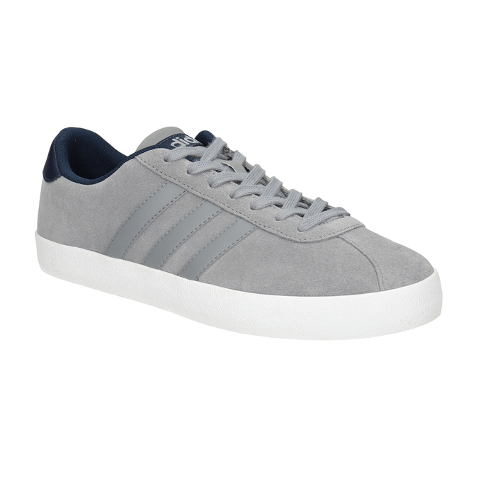 Grey Leather Sneakers adidas, gray , 803-7197 - 13