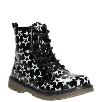 Lace-Up Boots with Stars mini-b, black , 291-6167 - 13